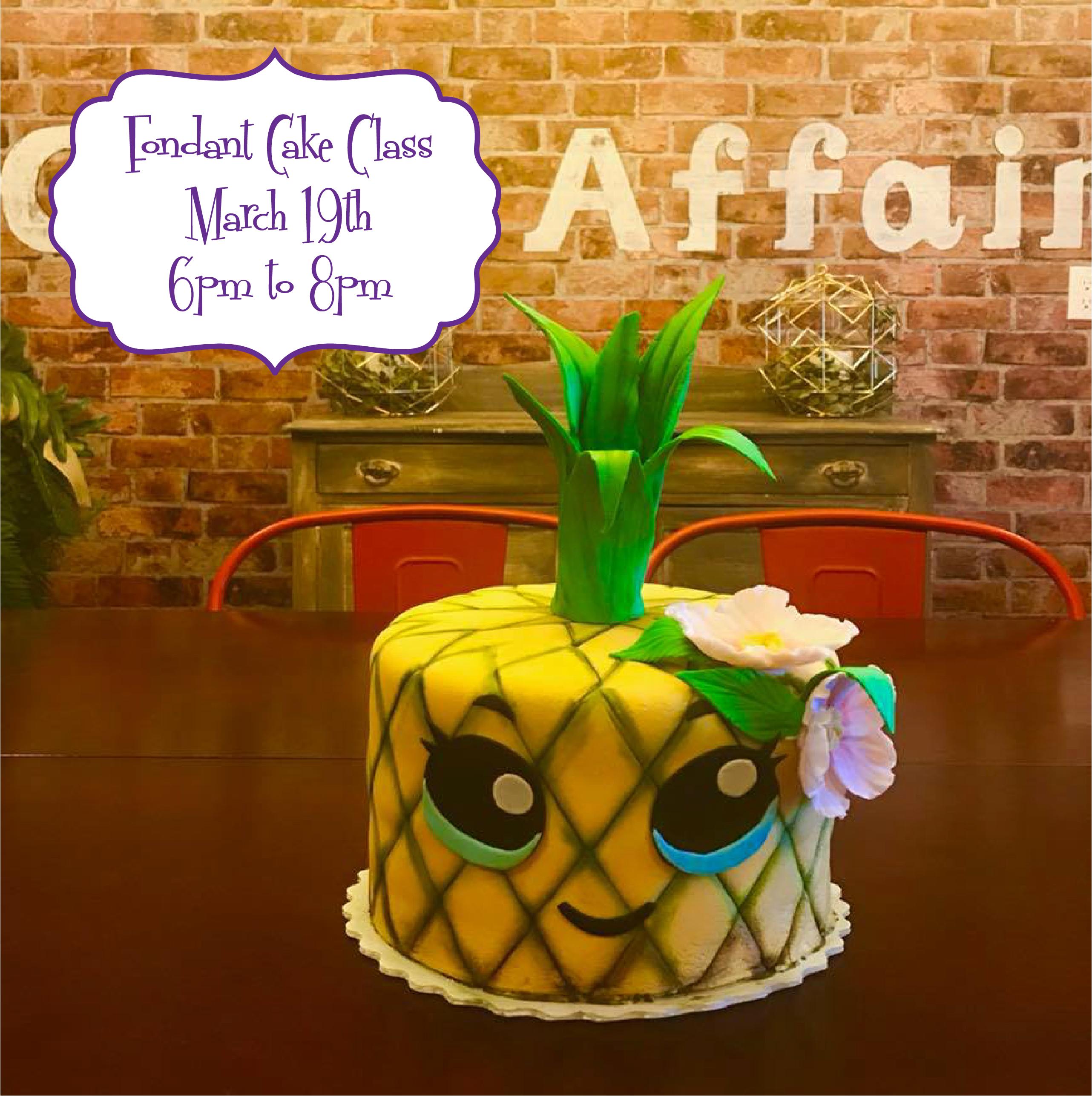 Fondant Cake Class - Cake Affair